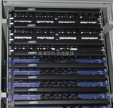 机柜整齐配线、网络设备安装